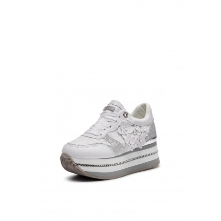 GUESS SNEAKERS IN PELLE BIANCO