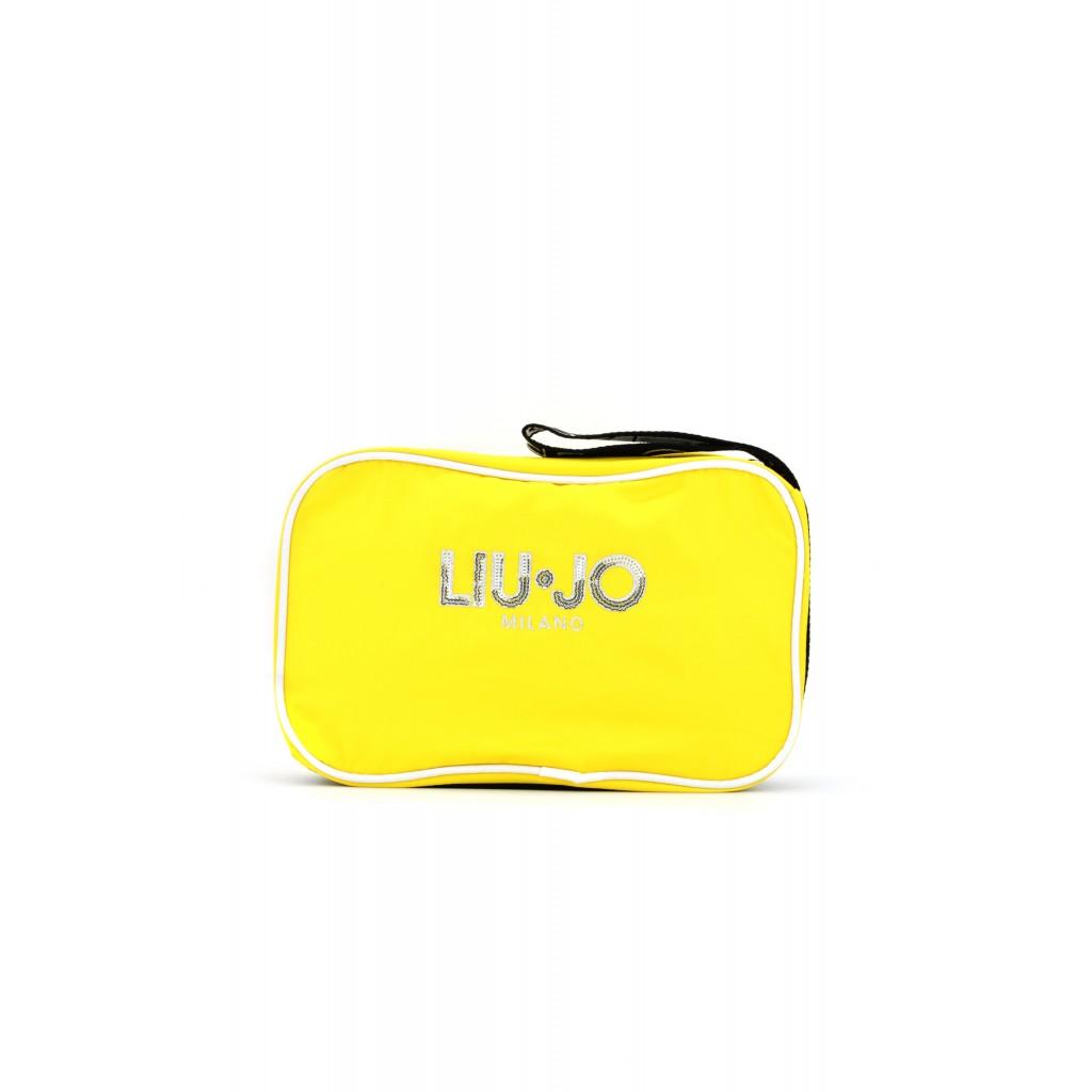 Pochette in nylon di Liu Jo Sport con logo arricchito da paillettes 9986aa963e6